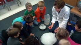 Professor VanWormer visits the Frog Room