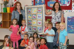 Handprint quilt from the Crayon Kids