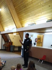 Officer Nicks visited from Tucson Police Department